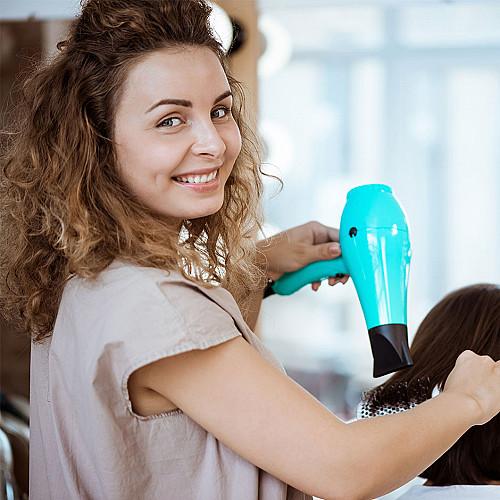 Frisør-tørrer-hår-logo
