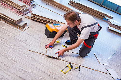 Håndværker Tømrer-måler-gulv banner