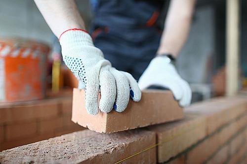 Håndværker Murer-lægger-mursten-banner